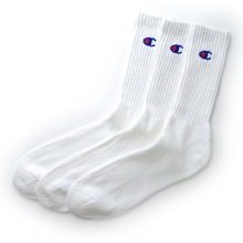 3 Pair Sock Full Length Socks - White