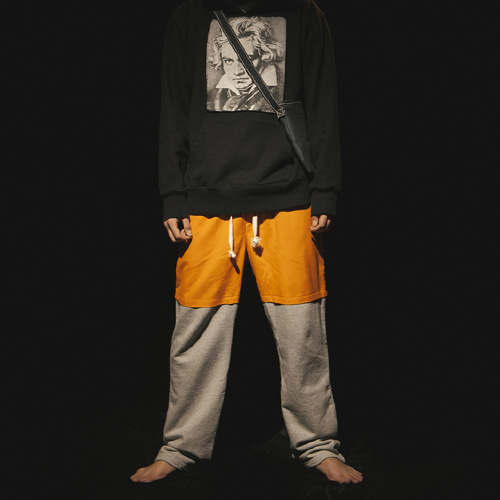 [30%할인][KING] Combine Sweat Pants - Orange