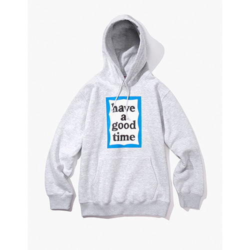 [Have a good time] BLUE FRAME PULLOVER HOODIE - HEATHER GREY
