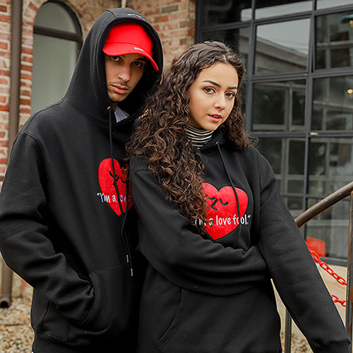 [LAMODECHIEF] LAMC LOVE FOOL HOODY (BLACK)
