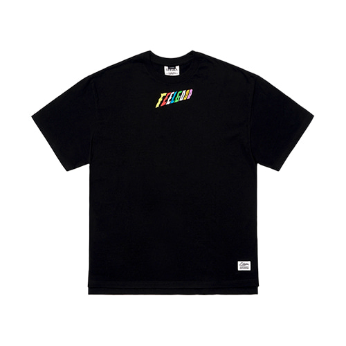 [STIGMA]RAINBOW OVERSIZED T-SHIRTS - BLACK
