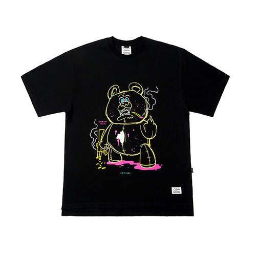 [STIGMA]BEAR GANG OVERSIZED T-SHIRTS - BLACK