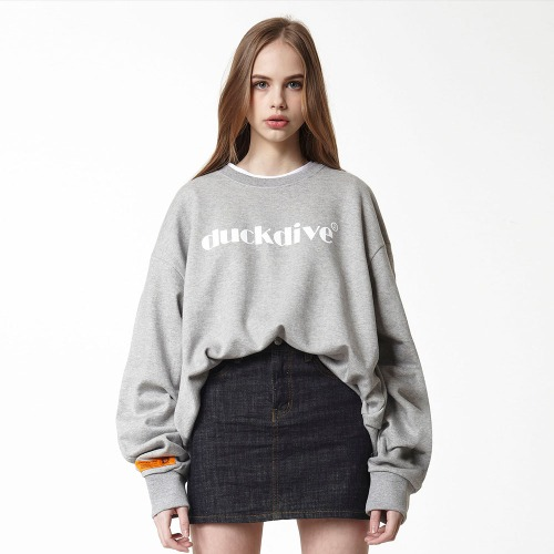 [DUCK DIVE] EMOTION LOGO_CREWNECK_GRAY