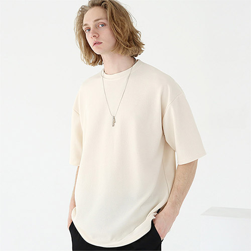 [TENBLADE] fresh over T-shirt-cream tai143ss-cream