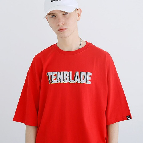 [TENBLADE] Black out T-shirt-tai157ss-red
