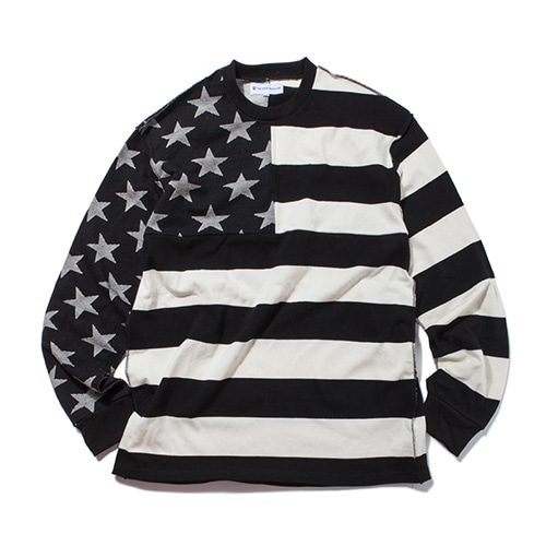 [KING]Star & Stripes Long Sleeve -Black