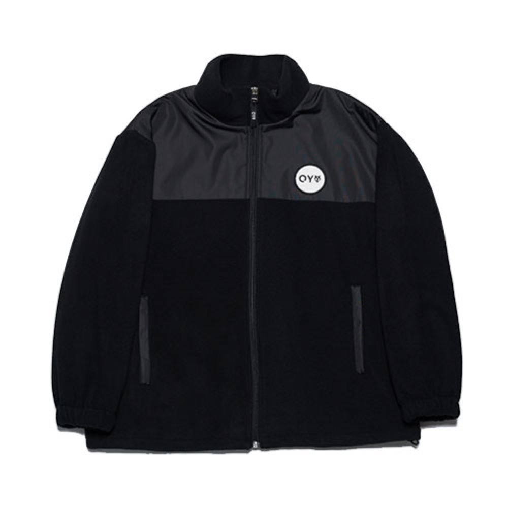 [OY] LOGO FLEECE JUMPER - BLACK