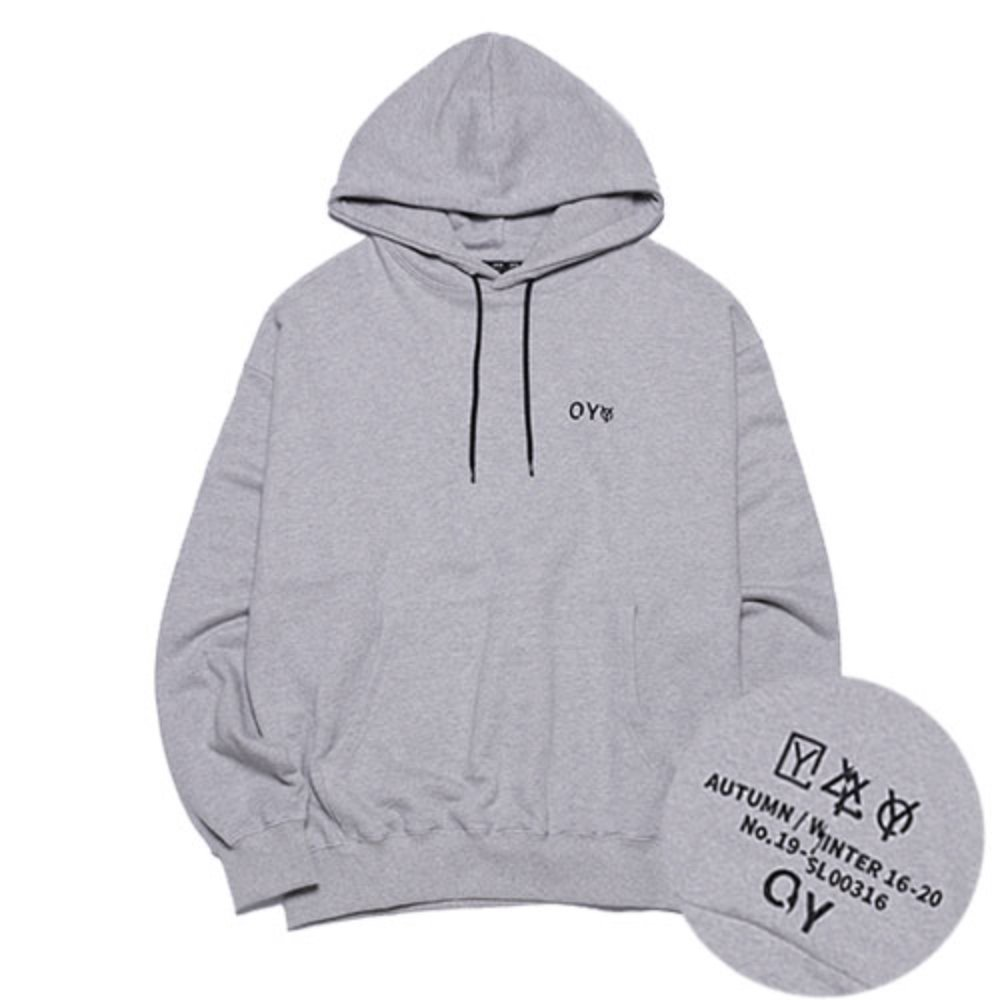 [OY] DOUBLE POCKET HOODIE - GREY