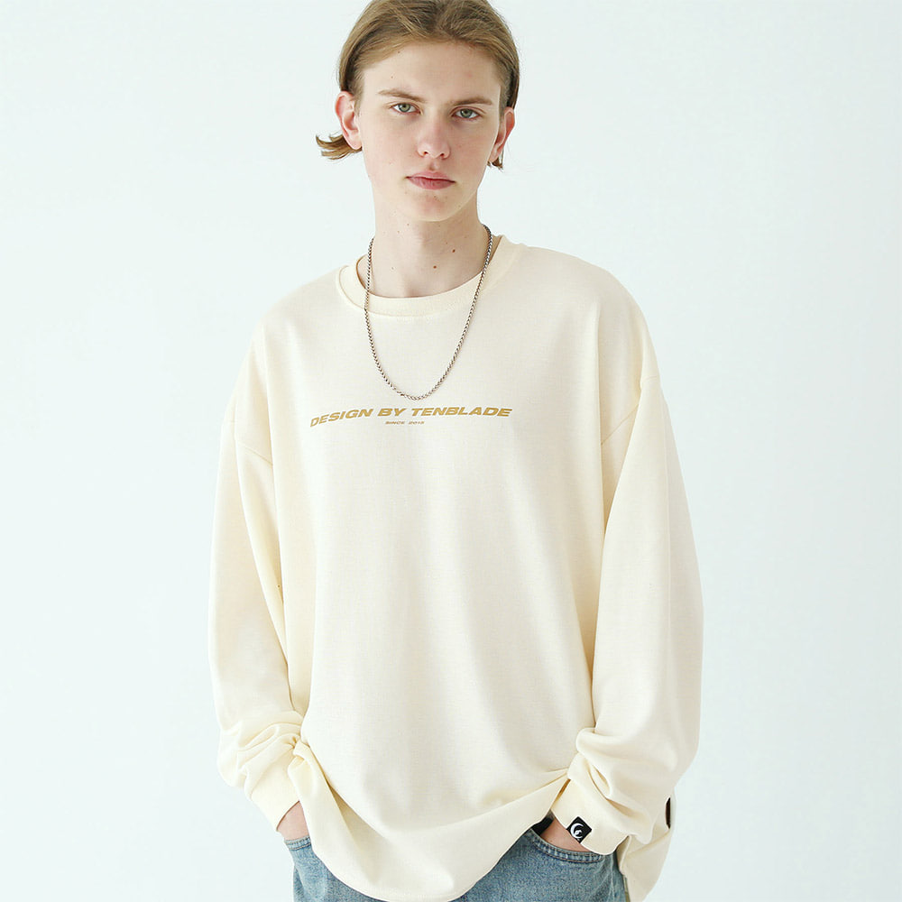 [TENBLADE] rotation long sleeves cream