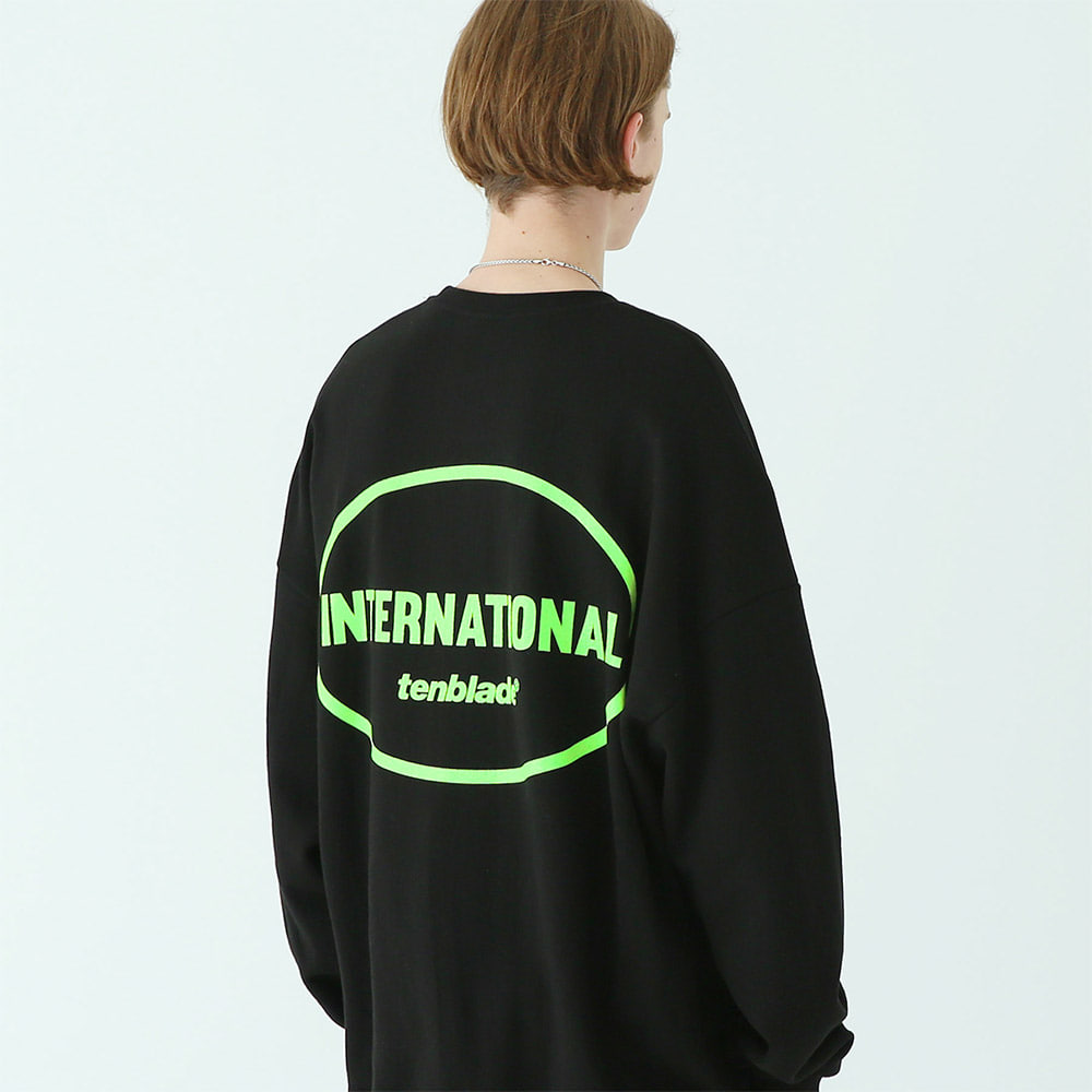 [TENBLADE] international sweat shirt black