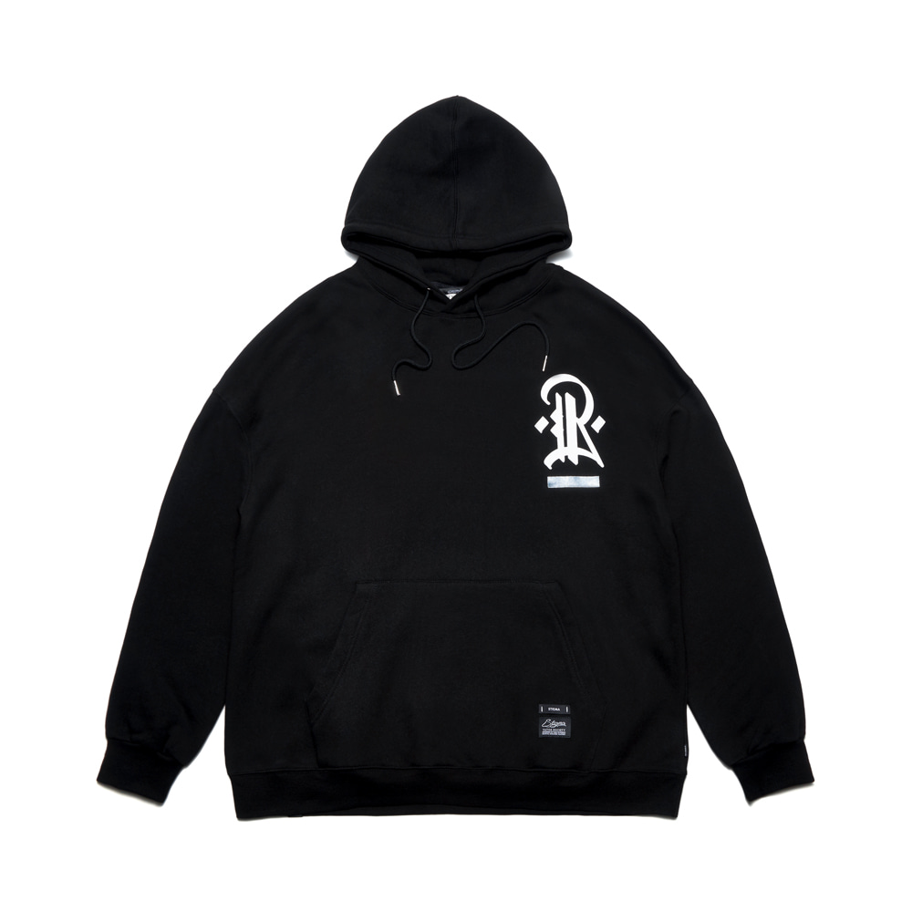 [STIGMA]PLUMB OVERSIZED HEAVY SWEAT HOODIE  - BLACK