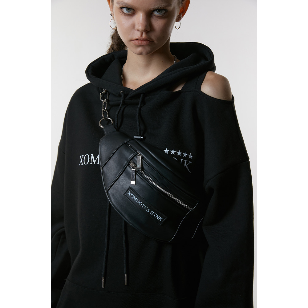 [ANOTHERYOUTH] chain waist bag - black