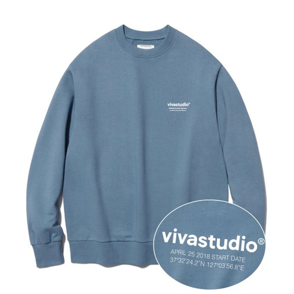 [비바스튜디오] LOCATION LOGO CREWNECK IA [PASTEL BLUE]