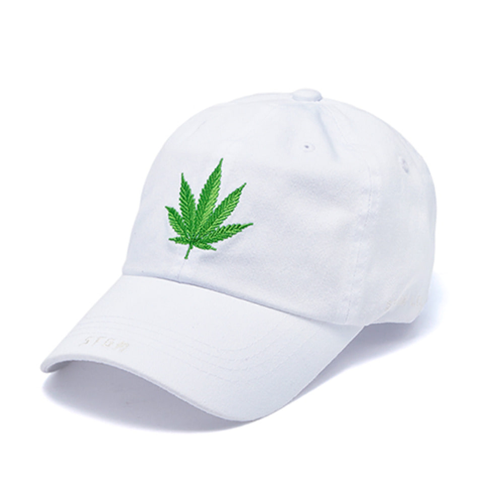 [STIGMA]LEAF WASHED BASEBALL CAP - WHITE