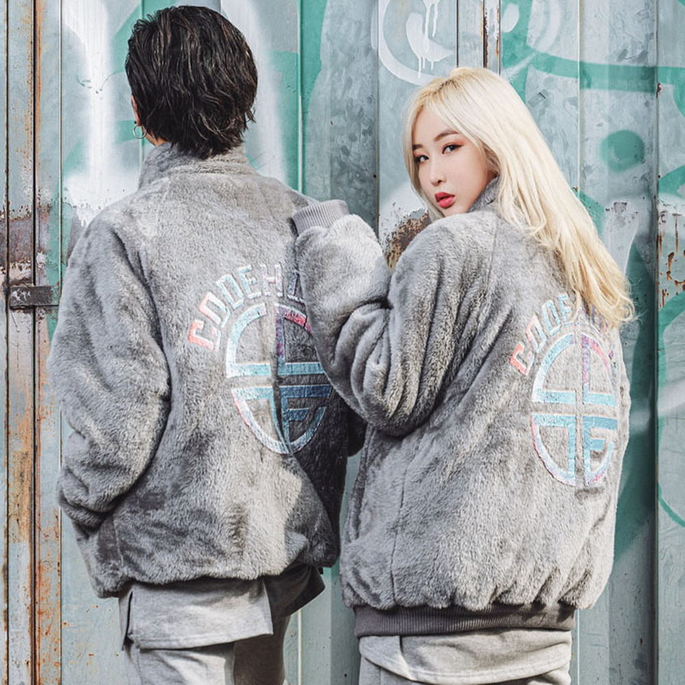 [CODEHOLiC] Unisex BOA jacket with Color Logo - Grey