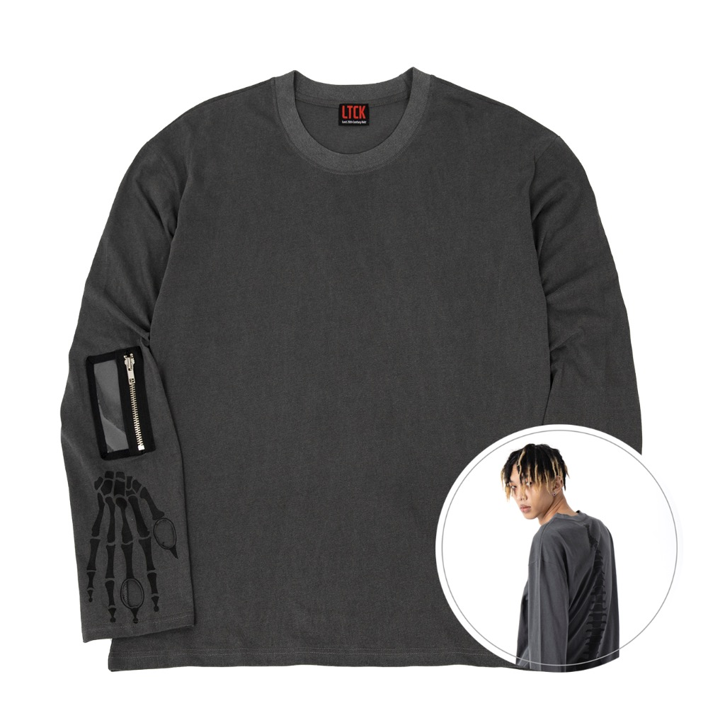 [LTCK] Bone Long Sleeve - CHARCOAL