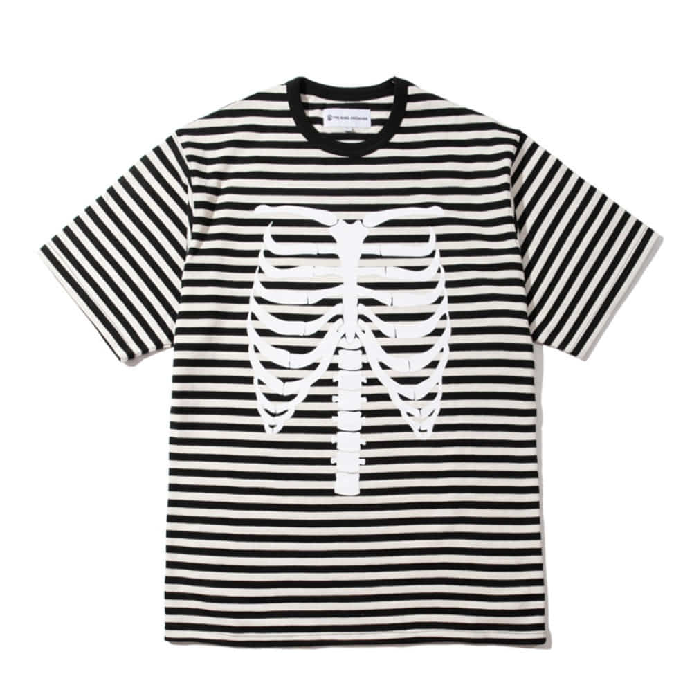 [KING] RIBCAGE BORDER T-Shirt -Black