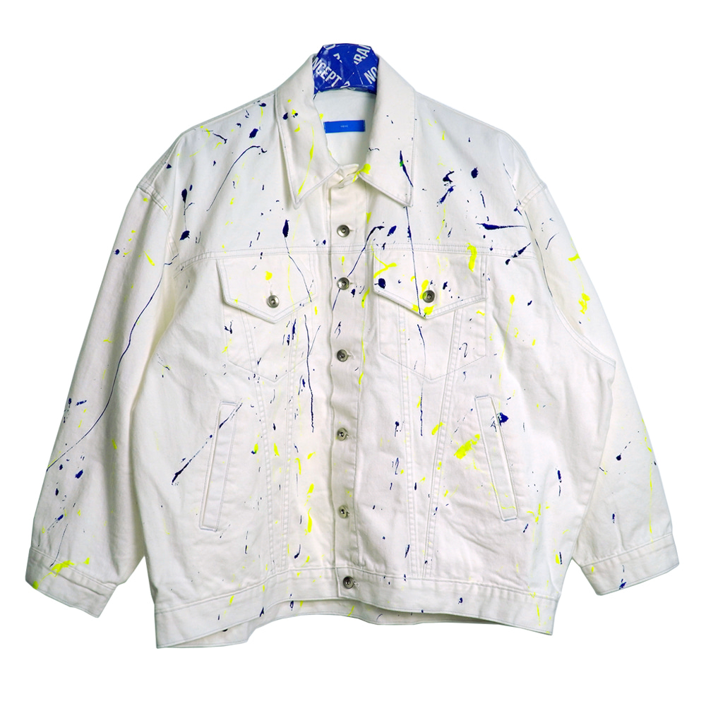 [NBNC] Painting Art Over Fit Denim Jacket - Ivory