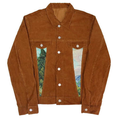 [EASY BUSY] Van Gogh Corduroy Trucker Jacket - Brown