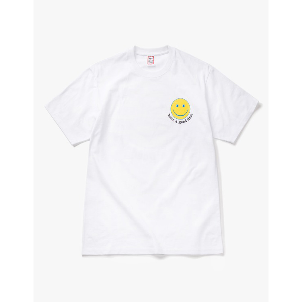 [Have a good time] have a good Smile S/S Tee - White