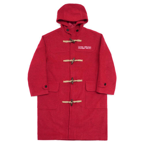 [아임낫어휴먼비잉] Patch Work Duffle Coat - Red