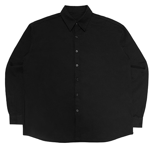 [아임낫어휴먼비잉] PLASTIC FACE OVERSIZED SHIRTS - BLACK