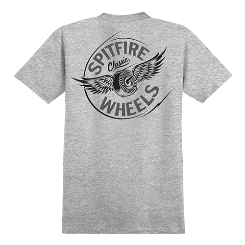 [Spitfire] FLYING CLASSIC S/S T-SHIRT - ATHLETIC HEATHER / GREY & BLACK Prints