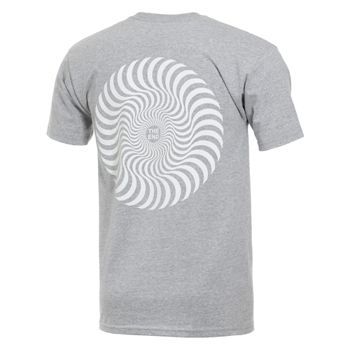 [Spitfire] CLASSIC SWIRL S/S T-SHIRT - ATHLETIC HEATHER / WHITE Prints