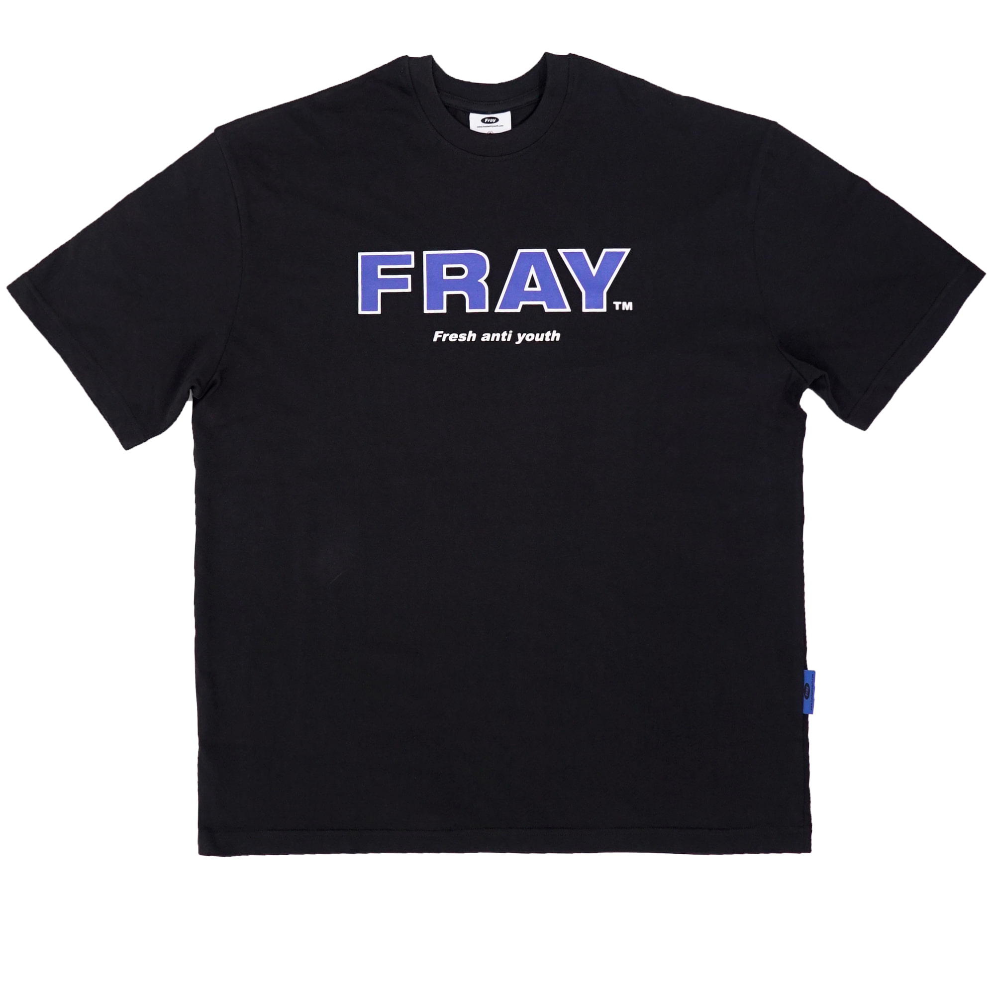 FRAY BIG LOGO T-SHIRTS - BLACK