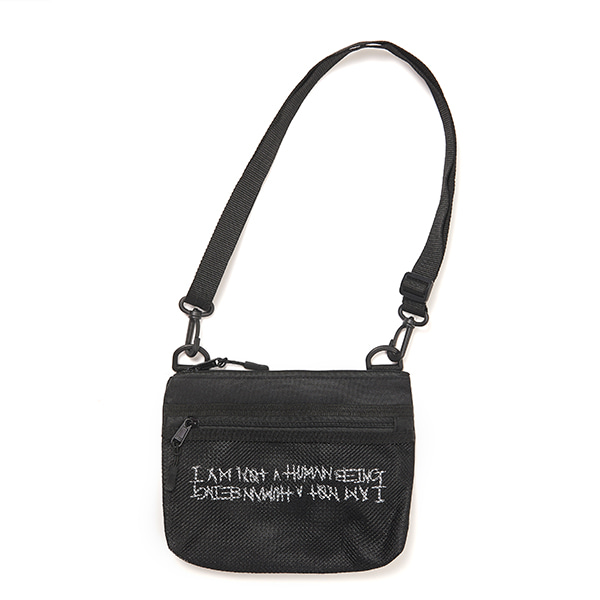 Basic Logo Pouch Bag - BLACK