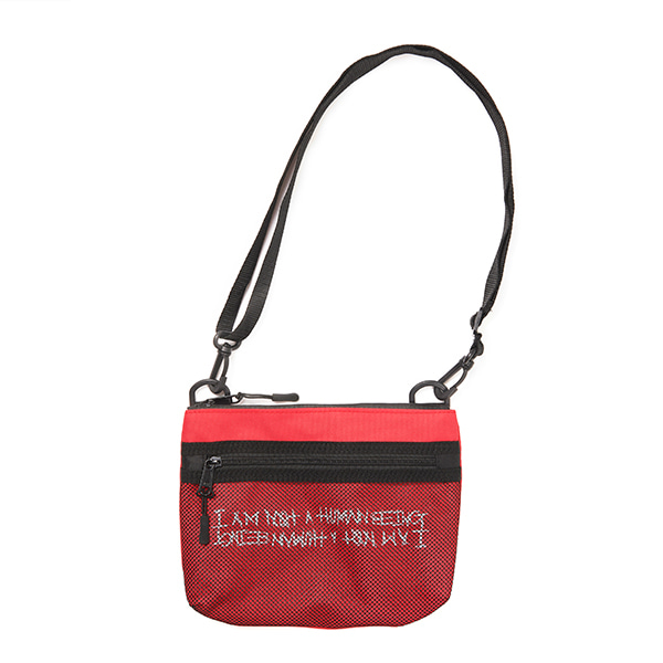 [아임낫어휴먼비잉] Basic Logo Pouch Bag - RED