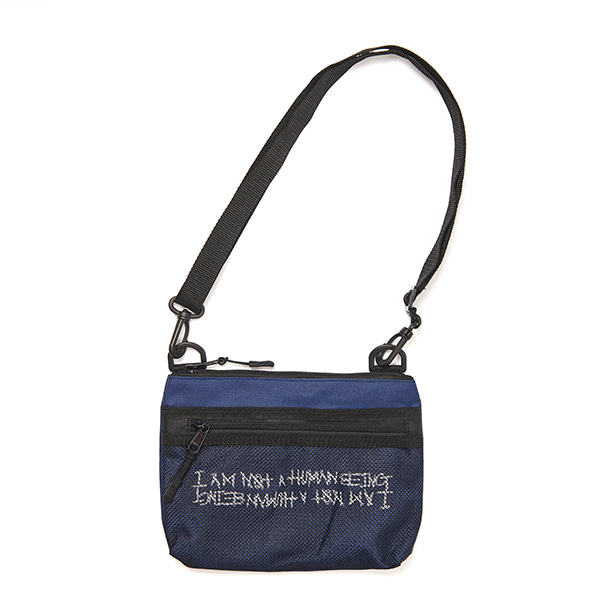[아임낫어휴먼비잉] Basic Logo Pouch Bag - BLUE