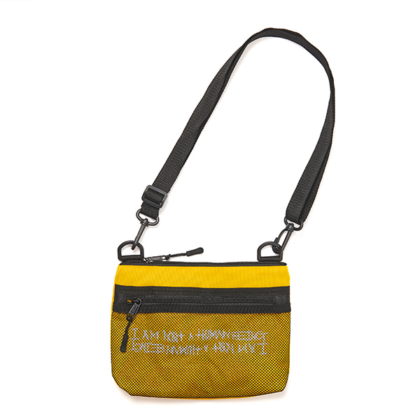 [아임낫어휴먼비잉] Basic Logo Pouch Bag - YELLOW