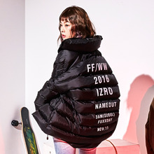 [IZRO X NAME OUT] Oversized Duckdown Jacket - Black