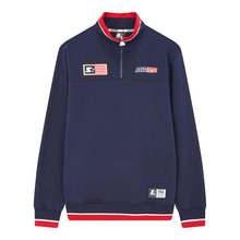 [STARTER] USA Sweat Half Zip - Navy