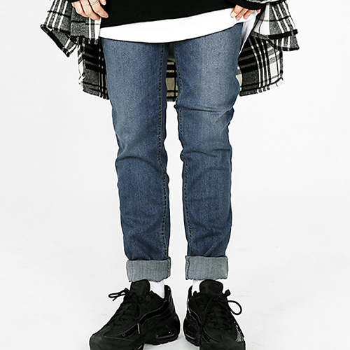 [OHVERDOSE]WASHED SLIM JEANS