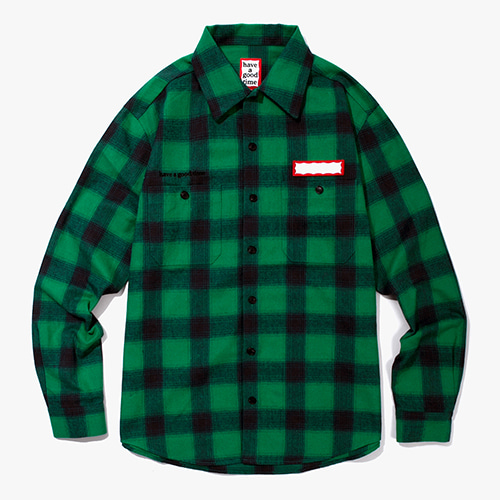 [Have a good time] Shadow Flannel Shirts - Green