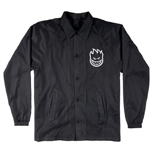 [Spitfire] STEADY ROCKIN' BIGHEAD COACH JACKET - BLACK/WHITE