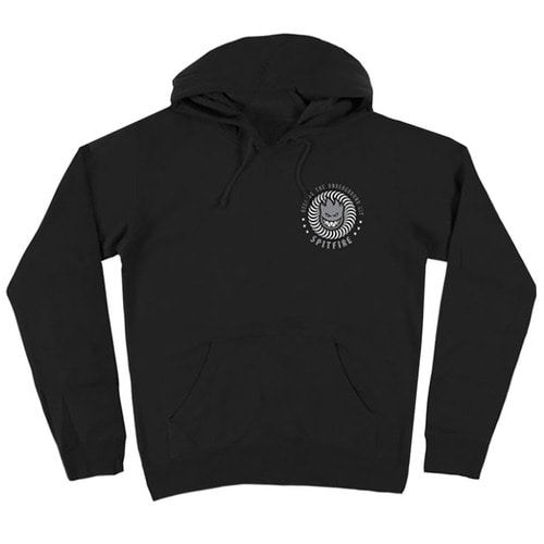[Spitfire] K.T.U.L PULLOVER HOODED SWEAT SHIRT - BLACK/WHITE&GREY