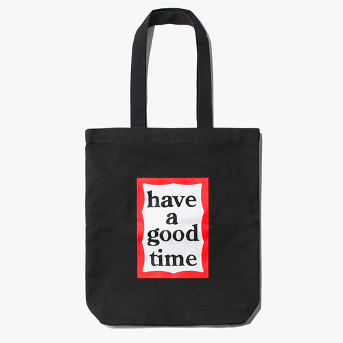 [Have a good time] 18FW FRAME TOTE - Black