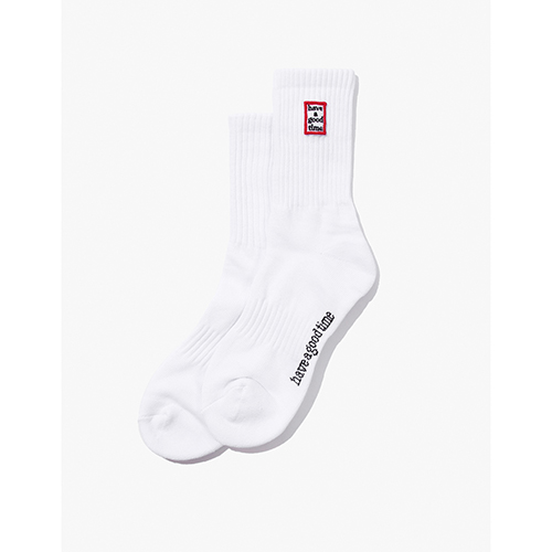 [Have a good time] FRAME SOCKS - WHITE