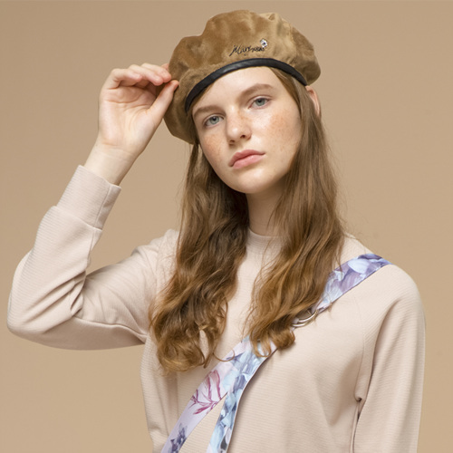 [THE GREATEST] GTXMMD 10 Embroidery BERET BROWN