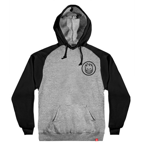 [Spitfire] CLASSIC SWIRL PULLOVER HOODED SWEAT SHIRT - GUNMETAL HEATHER&BLACK