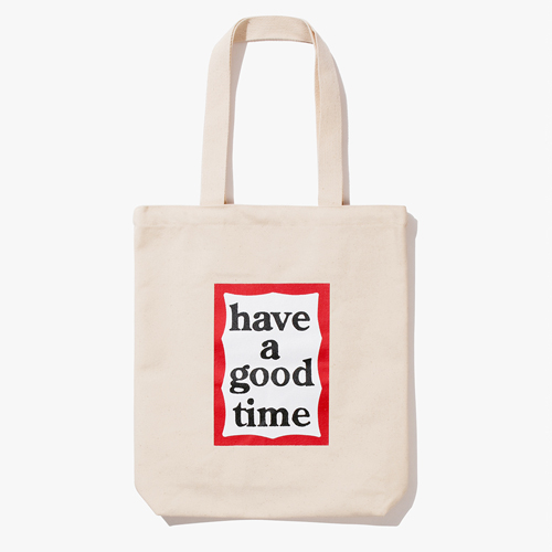 [Have a good time] 18FW FRAME TOTE - NATURAL