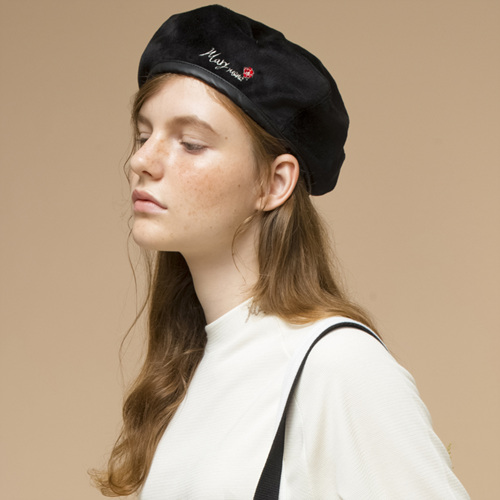 [THE GREATEST] GTXMMD 10 Embroidery BERET BLACK