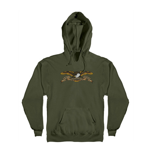 [Anti Hero] EAGLE PULLOVER HOODED SWEATSHIRT - ARMY
