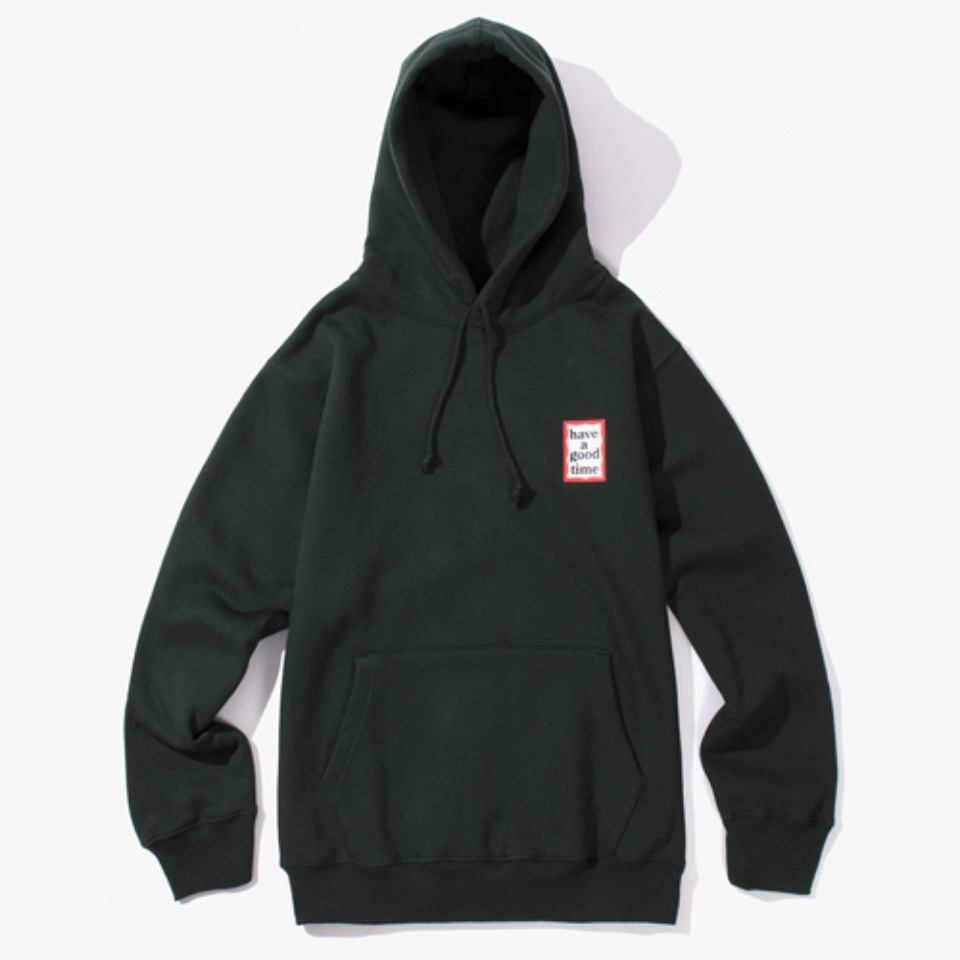 [Have a good time] MINI FRAME PULLOVER HOODIE - DARK GREEN