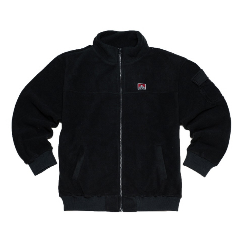 [Ben Davis] FLEECE H/N ZIP - BLACK