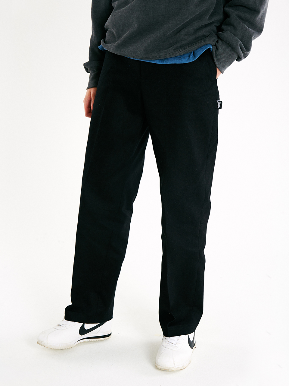 [매드마르스]PERFECT WIDE COTTON PANTS_BLACK