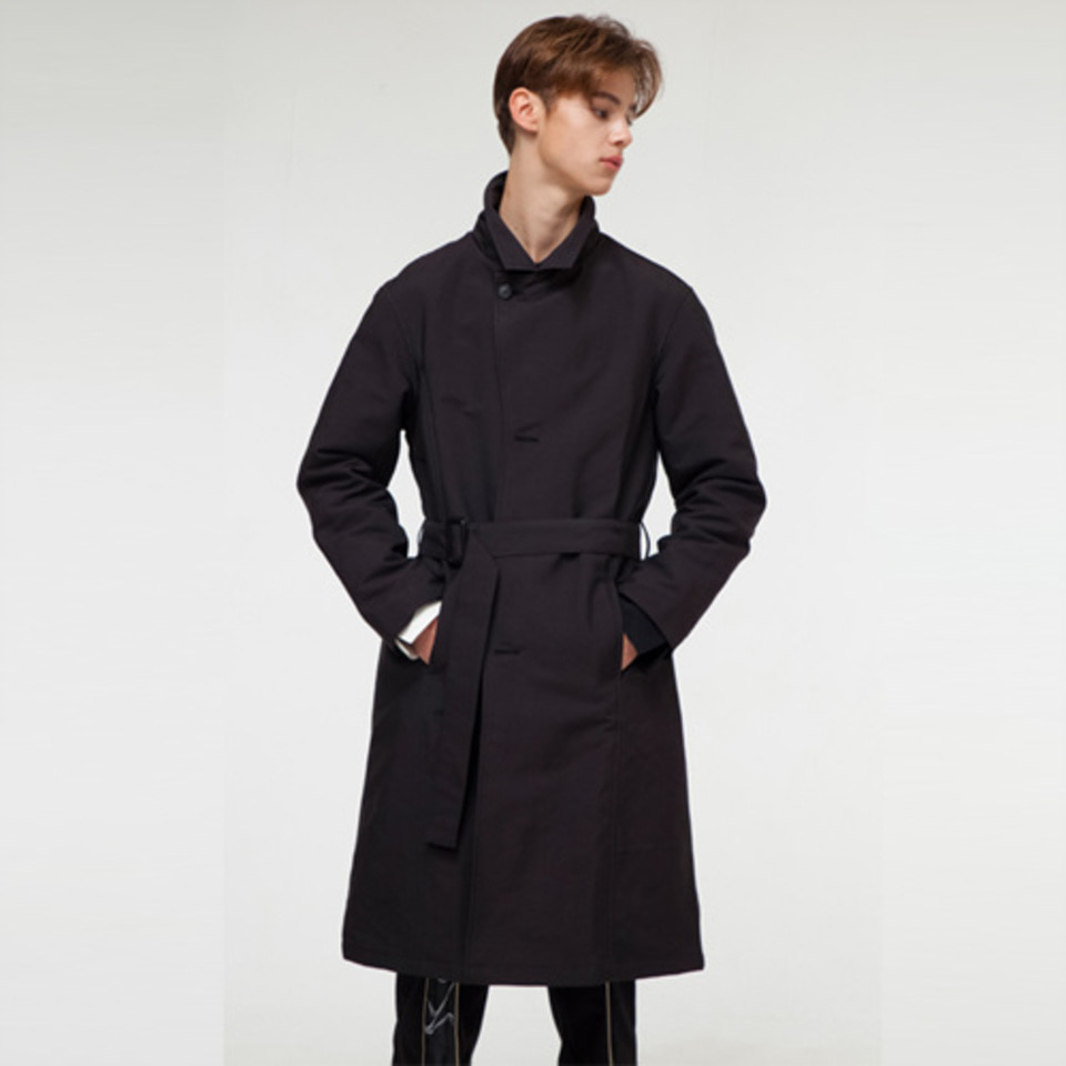 [THE GREATEST] GT18FW10 ROBE LONGCOAT BLACK